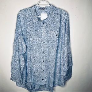 Woman Within New Plus Size 18/20 Large Buttondown